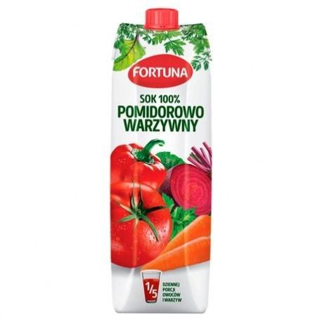 Fortuna Sok Wielowarzywny 100% 1l.