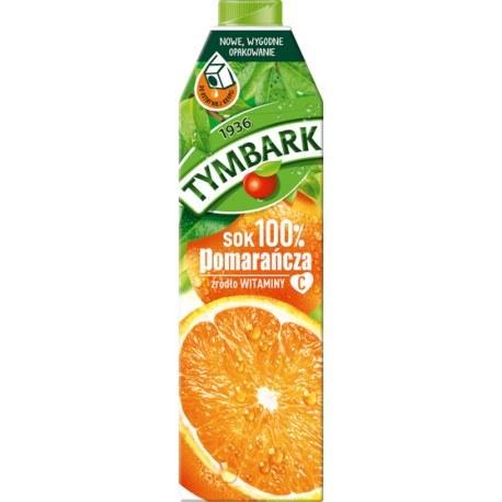 Tymbark Sok Pomarańczowy 100% 1l.