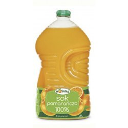 9 litrów (3x3l) Wosana Sok Pomarańczowy