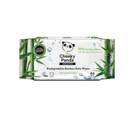 Bambusowe chusteczki nawilżane Panda x 64 sztuk