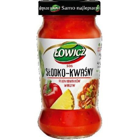 Sos słodko - kwaśny Łowicz 350 g.
