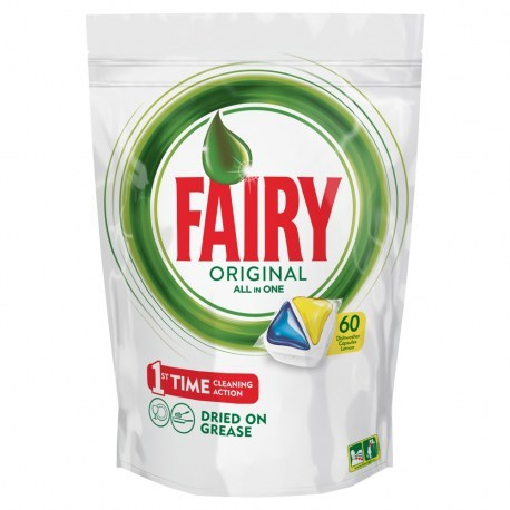 KAPSUŁKI DO ZMYWARKI fairy ALL IN ONE LEMON 60 SZTUKI