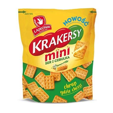 Lajkonik Mini Krakresy Ser i Cebulka 100 g
