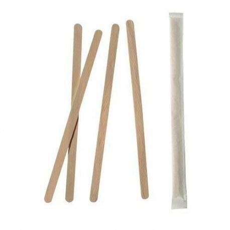 Mieszadełka drewniane pojedynczo pakowane x 1000 sztuk