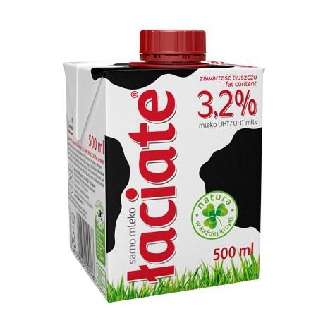 ŁACIATE Mleko UHT 3,2% 500 ml 8 sztuk