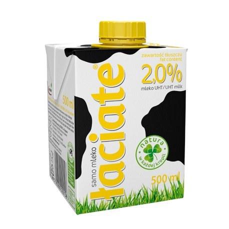 ŁACIATE Mleko UHT 2% 500 ml 8 sztuk
