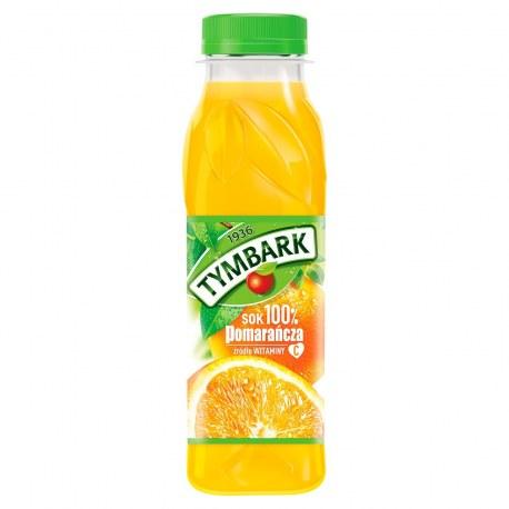 TYMBARK Sok 100% Pomarańcza PET 300 ml 12 sztuk