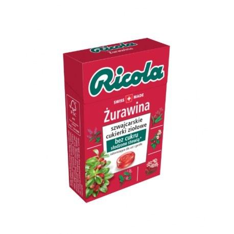 Ricola cukierki ziołowe żurawina 27,5 g x 20 sztuk