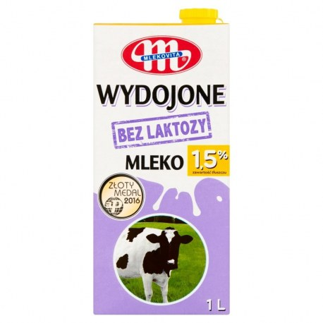 Mleko bez laktozy Polmlek Łagodne 1l 2% 12 sztuk