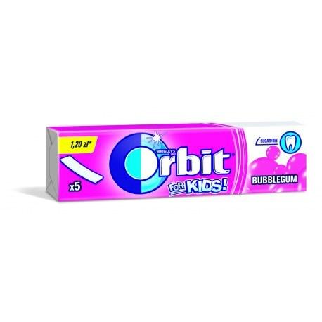 ORBIT KIDS BUBBLE GUM 5 PASKÓW X 20 PACZEK