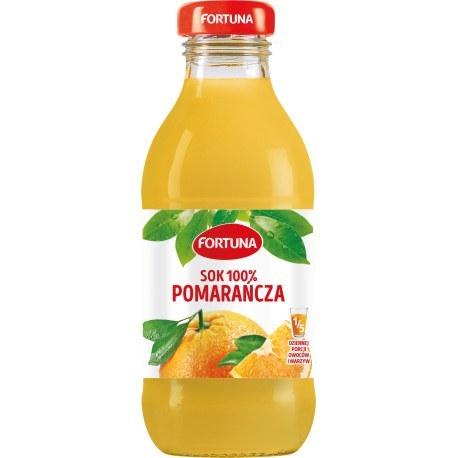 Fortuna Szkło Pomarańcz 100% 0.3l x 15 sztuk