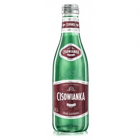 Woda Cisowianka Perlage Silnie Gazowana 0.33l. szkło 24 sztuki