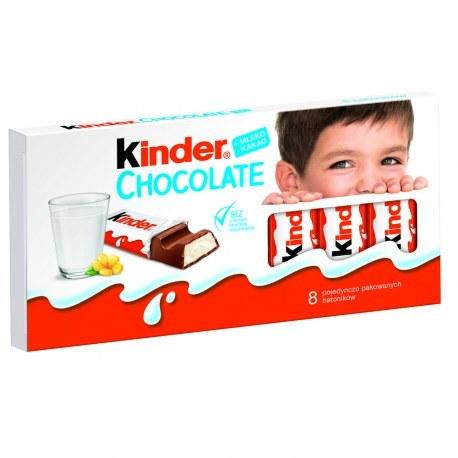 KINDER CHOCOLATE x 8 sztuk