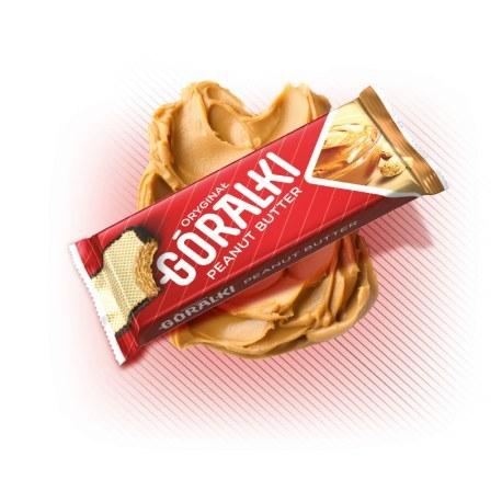 Góralki wafle peanut butter 50g x 36 sztuk