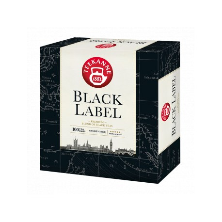 Teekanne Black Label 100 torebek