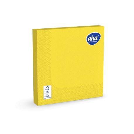 Serwetki Aha żółte 33 cm x 20 sztuk