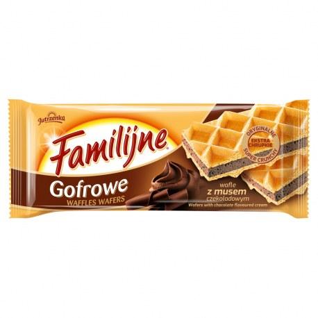 WAFLE FAMILIJNE GOFROWE CZEKOLADOWE 130 G