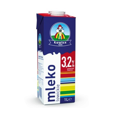 Mleko Łowickie 3.2% 1 litr X 12 SZTUK