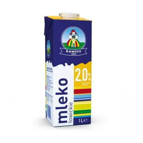 Mleko Łowickie 2% 1 litr X 12 SZTUK