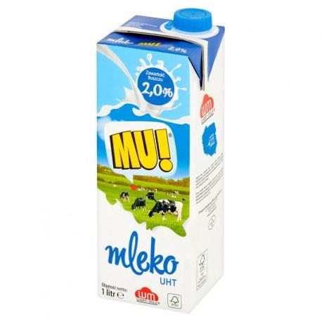 Mleko MU 2 % 1litr