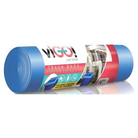 Worki na śmieci niebieskie 120l 8 sztuk VIGO