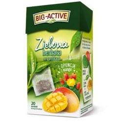 Big-Active Zielona z opuncją i mango 20 torebek