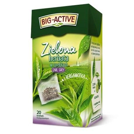 Big-Active Zielona Earl Grey z bergamotką 20 torebek
