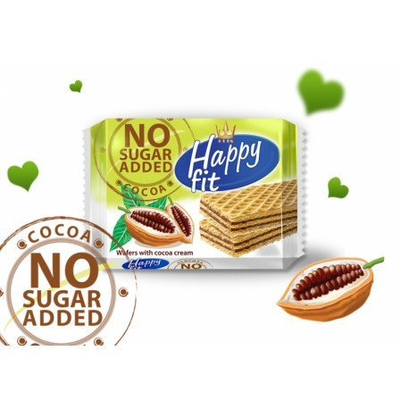 Flis Happy Fit wafelki kakaowe bez cukru 95g