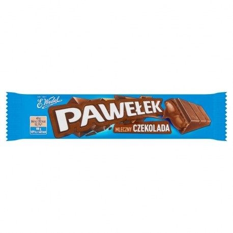 Baton Wedel Pawełek Batonik mleczny czekolada 45 g x 24 sztuki