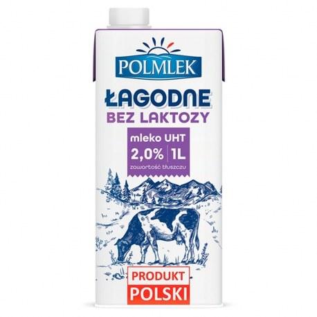 Polmlek Mleko bez laktozy 1l. 2% x 12 sztuk