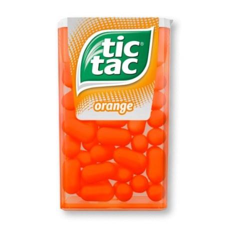 Tic Tac Drażetki Pomarańczowe 18g x 24 sztuki