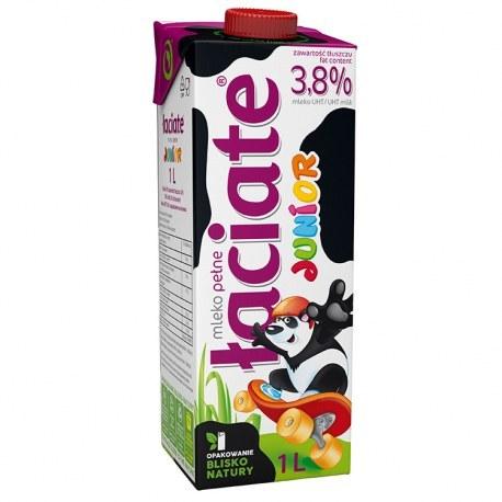 Mleko Łaciate Junior 3.8% 1 litr X 12 SZTUK