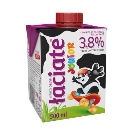 Mleko Łaciate Junior 3.8% 0.5l. X 8 SZTUK