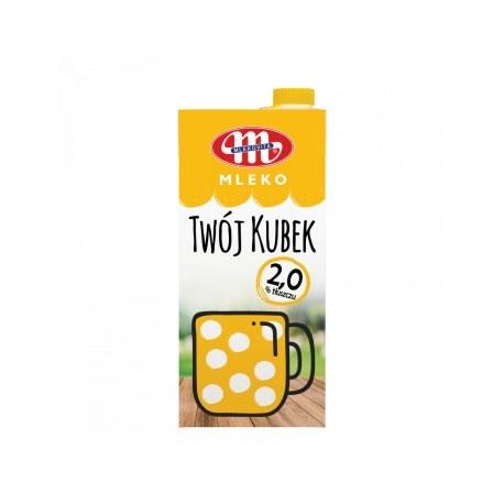 Mlekovita Mleko UHT 2% tł. Twój kubek 1L. x 12 sztuk