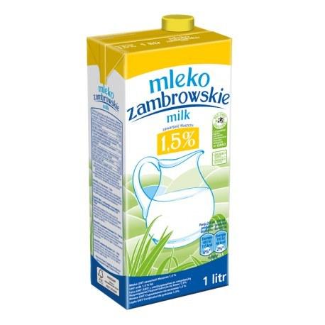 Mleko Zambrowskie 1.5 % 1 litr x 12 sztuk