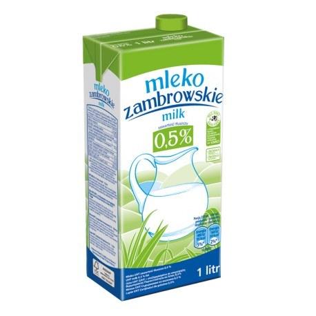 Mleko Zambrowskie 0.5 % 1 litr x 12 sztuk
