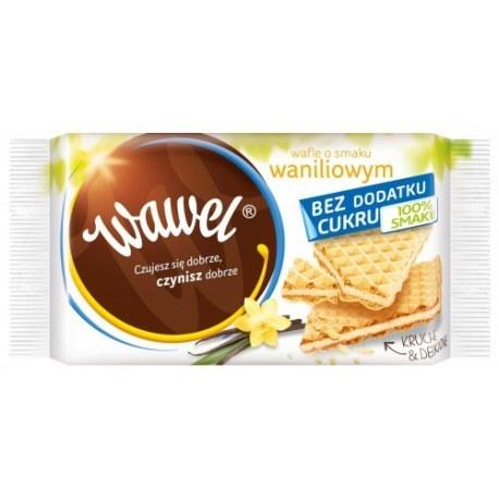 Wawel Wafle śmietankowe bez dodatku cukru 110g