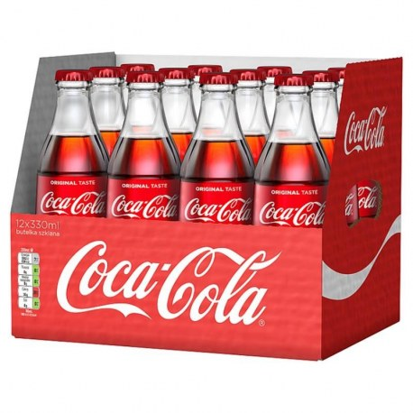 Coca Cola 330 ml x 12 butelek bezzwrotnych