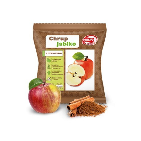 Crispy Natural Suszone Jabłko z cynamonem 18g