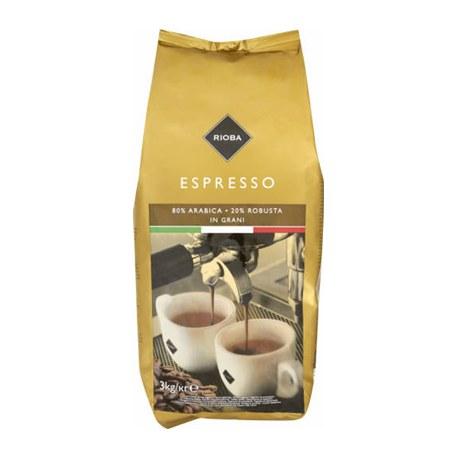 Rioba Espresso Gold Kawa ziarnista prażona 3 kg
