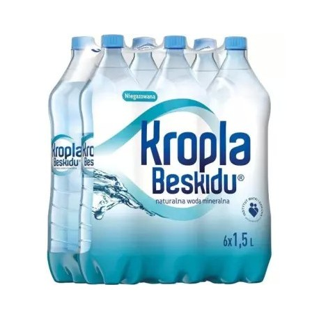 Woda Kropla Beskidu niegazowana 1.5l 6 sztuk