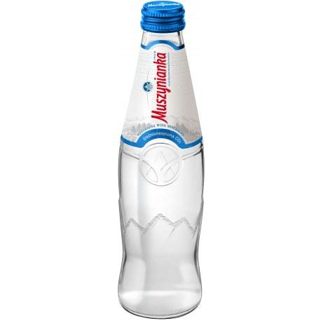 Woda Muszynianka 0.3 L. szkło gaz 9 sztuk