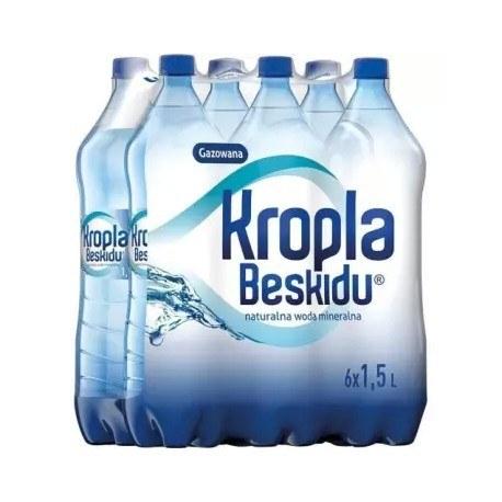 KROPLA BESKIDU 1.5 l. gazowana 504 butelki PALETA