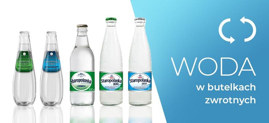 Woda w butelkach zwrotnych